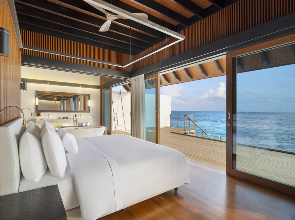 westin maldives over water suite
