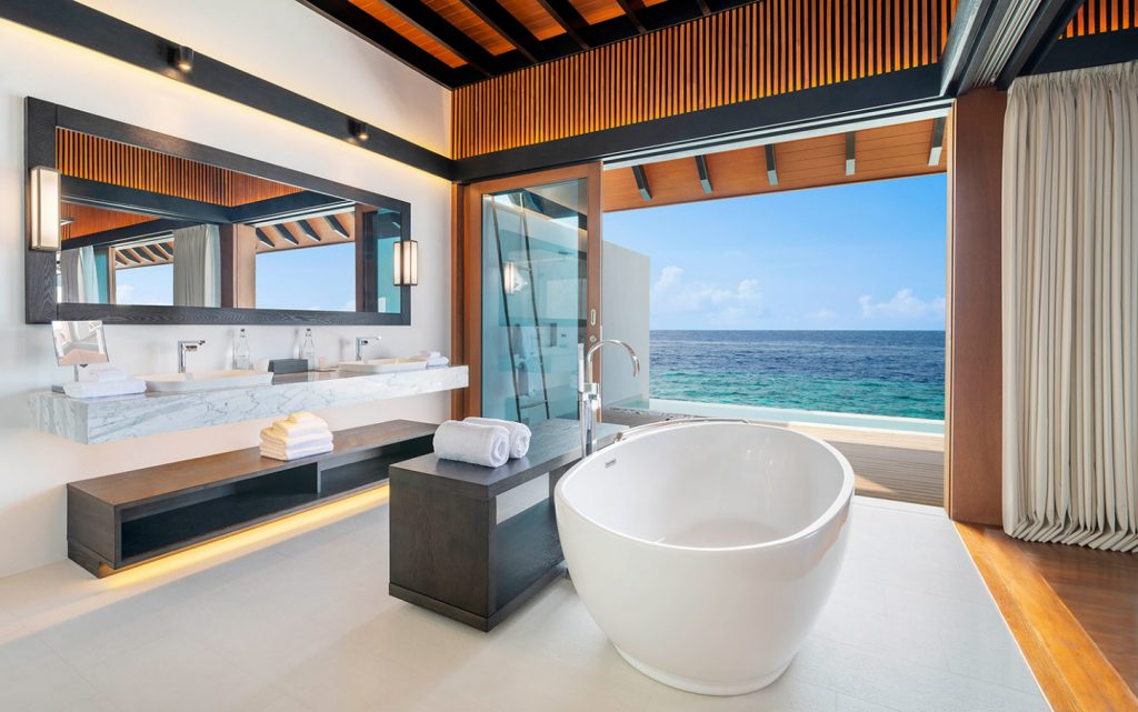 overwater suite with pool