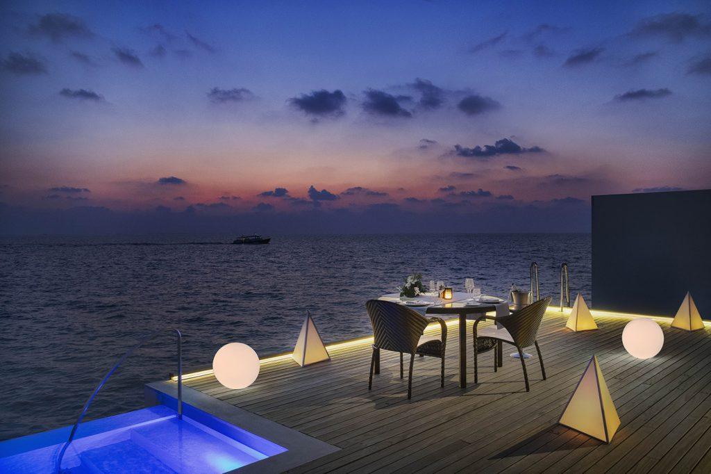 westin maldives in villa dining